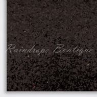 Chunky Black Glitter Fabric
